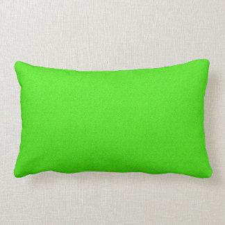 """""""Lime Static"""", Throw Pillow Lumbar 13x21"""