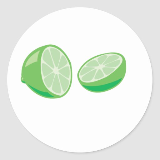 lime round stickers