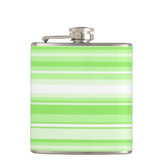 Lime stripes hip flask