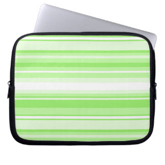 Lime stripes laptop sleeve
