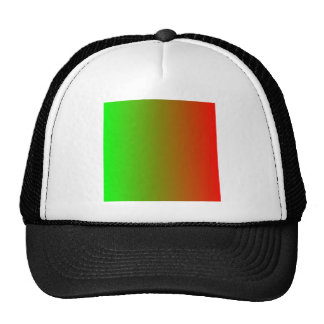Lime to Candy Apple Red Vertical Gradient Mesh Hats