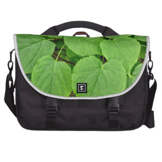 Lime tree leaves bags for laptop