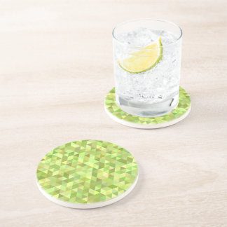 Lime triangles coaster