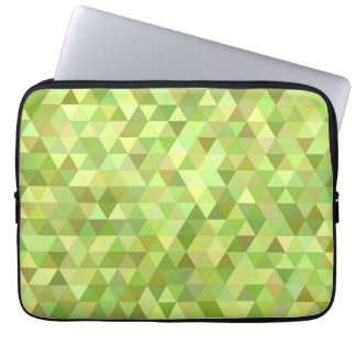 Lime triangles computer sleeves
