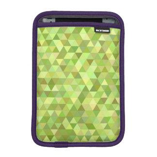 Lime triangles iPad mini sleeves
