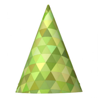 Lime triangles party hat
