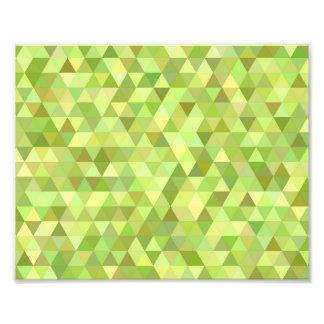 Lime triangles photo print