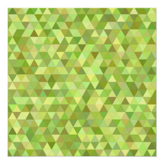 Lime triangles poster