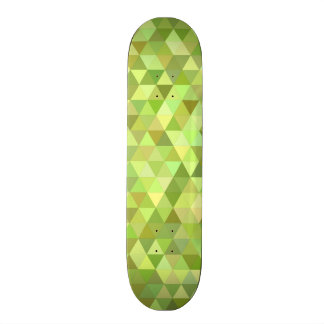 Lime triangles skateboard decks