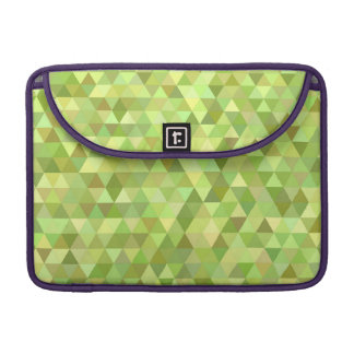 Lime triangles sleeve for MacBook pro
