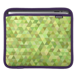 Lime triangles sleeves for iPads