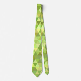 Lime triangles tie
