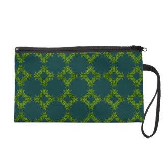 Lime & Turquoise Bagettes Wristlet Bag
