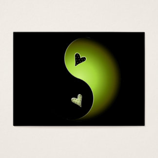lime yin yang business card