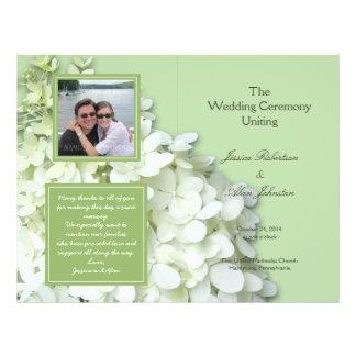 Limelight Hydrangea Photo Wedding Program 21.5 Cm X 28 Cm Flyer
