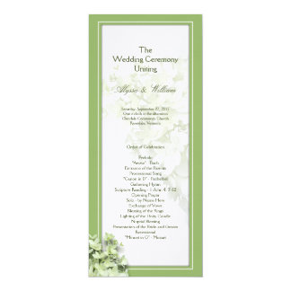 Limelight Tall Hydrangea Wedding Program Template