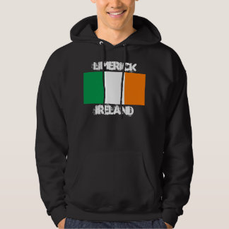 Limerick, Ireland with Irish flag Hoodie