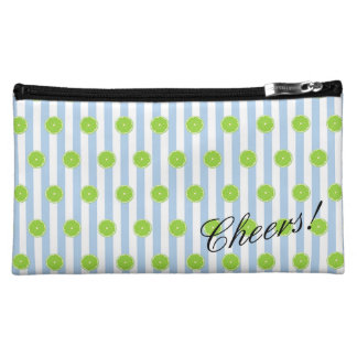 Limes And Seersucker Fiesta Party Cosmetic Bag