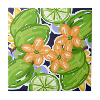 Limes.jpg Small Square Tile