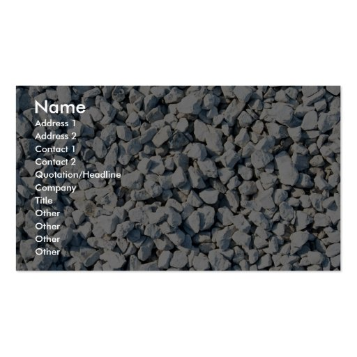 Limestone chippings business card templates