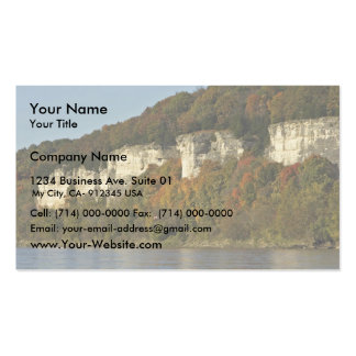Limestone cliffs and autumn trees on the Big Muddy Pack Of Standard Business Cards