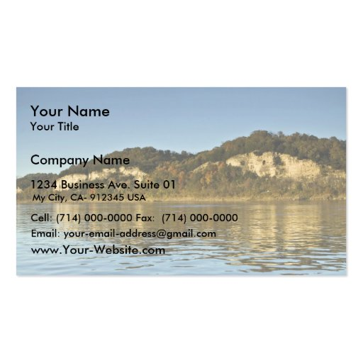 Limestone cliffs on Big Muddy Business Card Templates