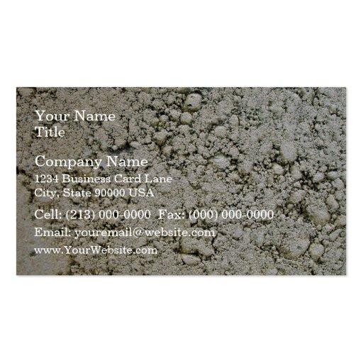 Limestone Concrete Surface Texture Business Cards