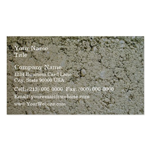 Limestone Concrete Texture Business Card