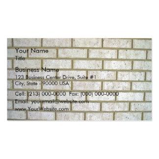 Limestone Look Brick Wall Business Cards