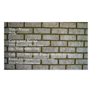 Limestone Look Brick Wall Pack Of Standard Business Cards
