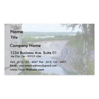 Limestone Quarry Landscape Pack Of Standard Business Cards