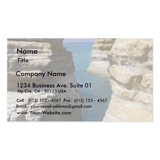 Limestone Rocks Rocks On Corfu Island Business Card Template