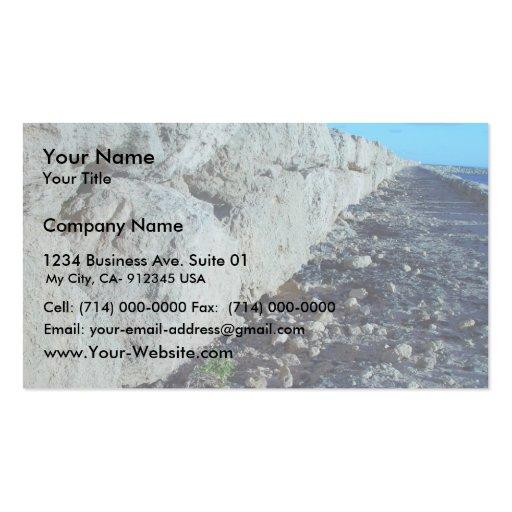 Limestone Sea-Wall At Hillaries Marina Business Cards