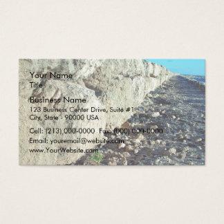 Limestone seawall