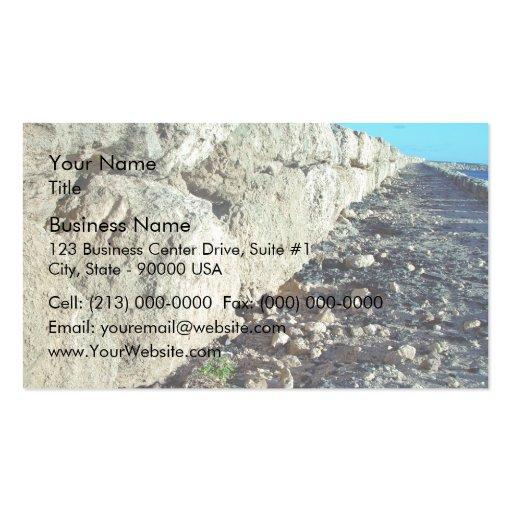 Limestone seawall business cards