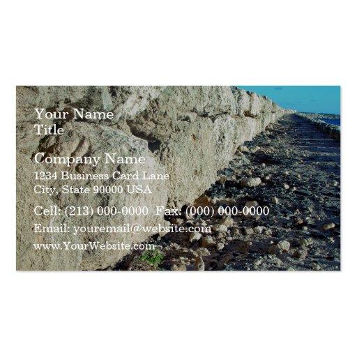 Limestone seawall business card template