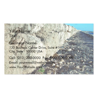Limestone seawall pack of standard business cards