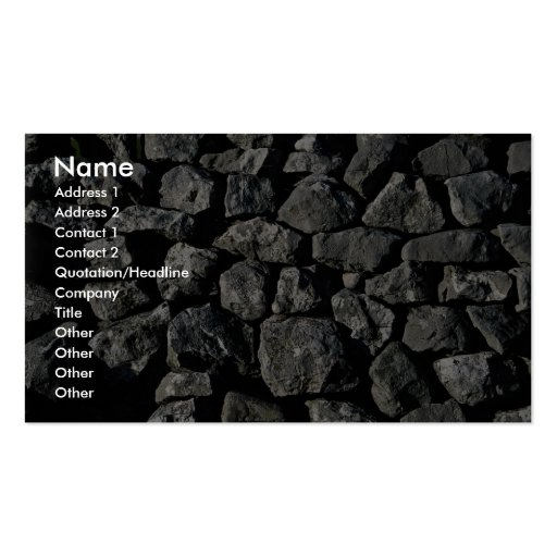 Limestone wall, Yorkshire Dales, England Business Card