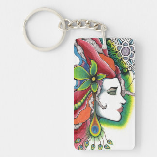 Limit portrait modern art key ring