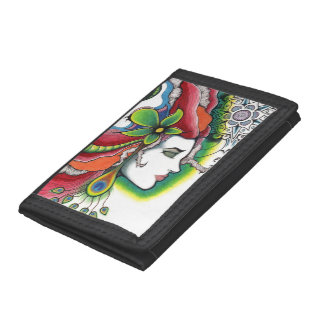 Limit portrait modern art tri-fold wallet