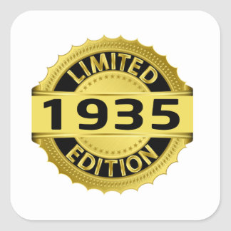 Limited 1935 Edition Square Sticker