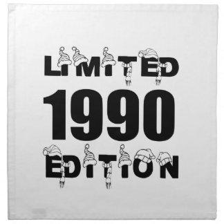 LIMITED 1990 EDITION BIRTHDAY DESIGNS NAPKIN