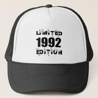 LIMITED 1992 EDITION BIRTHDAY DESIGNS TRUCKER HAT