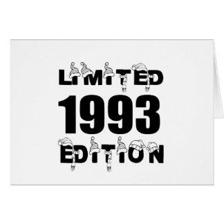 LIMITED 1993 EDITION BIRTHDAY DESIGNS CARD