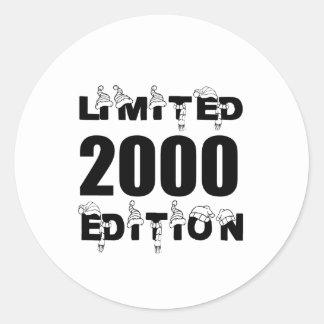 LIMITED 2000 EDITION BIRTHDAY DESIGNS CLASSIC ROUND STICKER