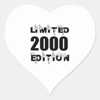 LIMITED 2000 EDITION BIRTHDAY DESIGNS HEART STICKER