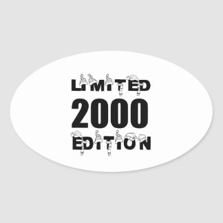 LIMITED 2000 EDITION BIRTHDAY DESIGNS OVAL STICKER