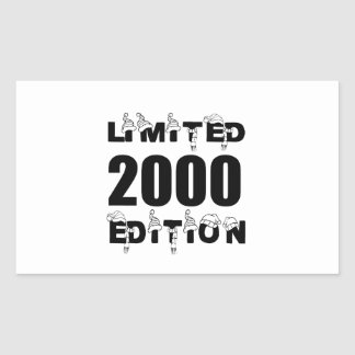 LIMITED 2000 EDITION BIRTHDAY DESIGNS RECTANGULAR STICKER
