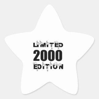 LIMITED 2000 EDITION BIRTHDAY DESIGNS STAR STICKER