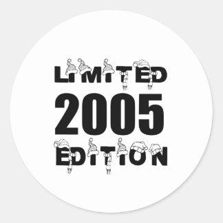 LIMITED 2005 EDITION BIRTHDAY DESIGNS CLASSIC ROUND STICKER